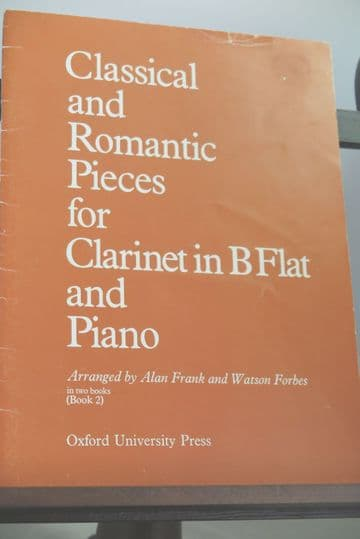 Classical & Romantic Pieces for Clarinet & Piano Book 2 arr Frank A & Forbes W